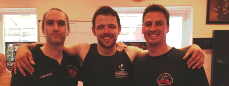 Robin French with Sifu David Farmer and Sifu Phil Read - September 2012
