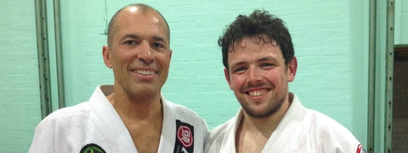 Robin French with Royce Gracie - April 2013