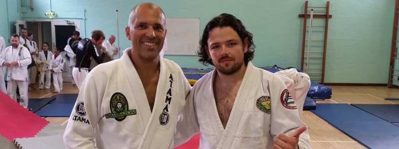 Robin French with Mestre Royce Gracie - July 2014