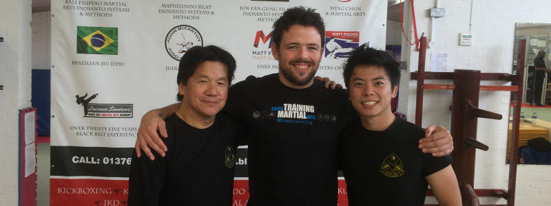 Robin French with Sifu Fong and Kevin Lee - September 2015