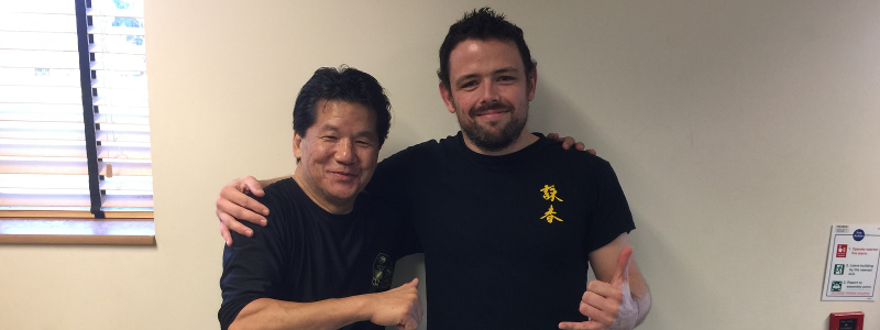 Robin French with Sifu Francis Fong - December 2016