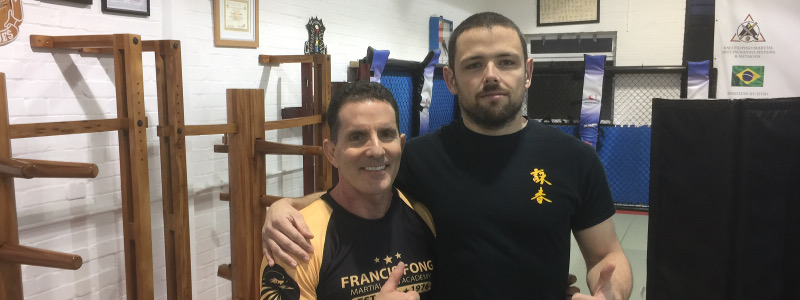 Robin French with Sifu Jim Brault - December 2016