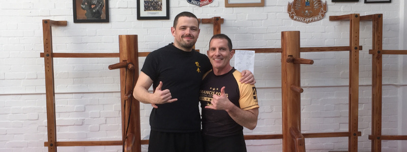 Robin French with Sifu Jim Brault - March 2017