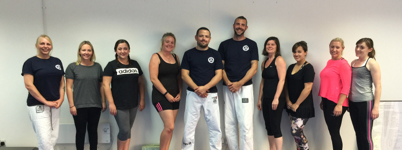 Robin French and Peter Squire at Women's Self Defence Workshop - August 2017