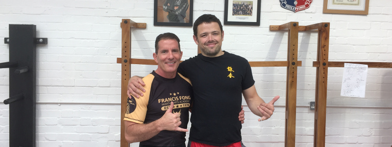 Robin French with Sifu Jim Brault - August 2017