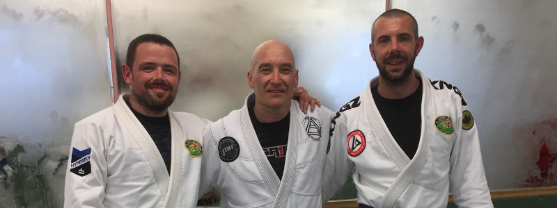 Robin French with Mike Horihan and Peter Squire - April 2018