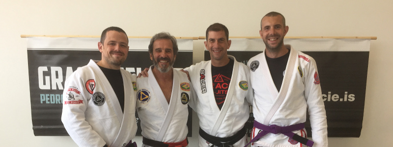 Robin French with Master Pedro Sauer, Professor Allan Manganello and Peter Squire - June 2018