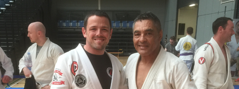 Robin French with Master Rickson Gracie - July 2018