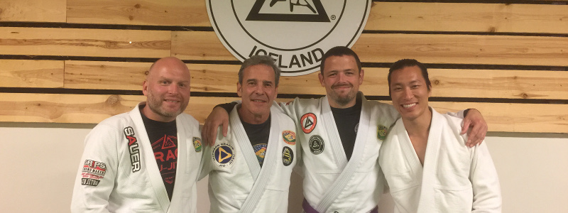 Robin French with Master Pedro Sauer, Alex Ueda and Johann Eyvindsson - June 2019